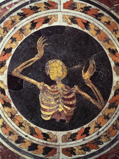 Skeleton Pleading, Detail from Marble Floor, Cornaro Chapel, Church of Santa Maria Della Vittoria--Giclee Print