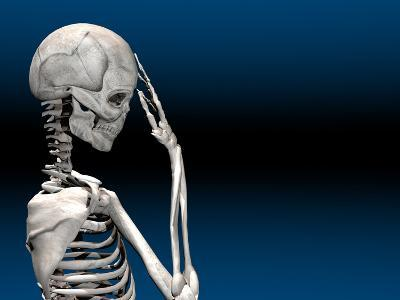 Skeleton with a Headache-Carol & Mike Werner-Photographic Print