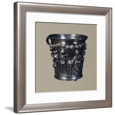 Skeletons Representing Greek Philosophers and Inscriptions Inviting Them to Enjoy Life's Pleasures--Framed Giclee Print