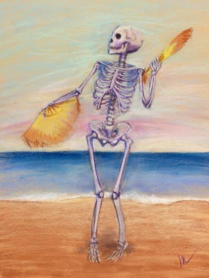 Skelly Dancer No  10 Giclee Print by Marie Marfia | Art com