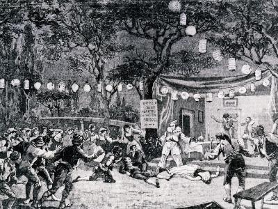 Sketch Depicting Final Scene of Opera Pagliacci, 1892-Ruggero Leoncavallo-Giclee Print