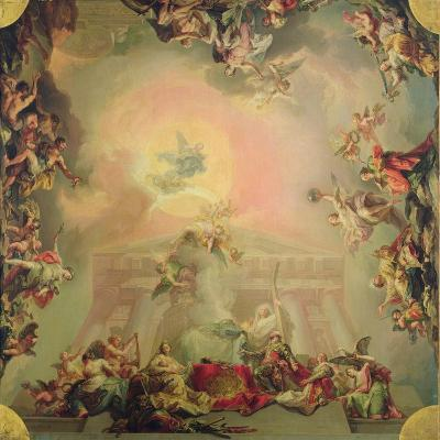 Sketch for a Ceiling Painting: the Institution of the Order of St Charles III-Vicente Lopez y Portana-Giclee Print