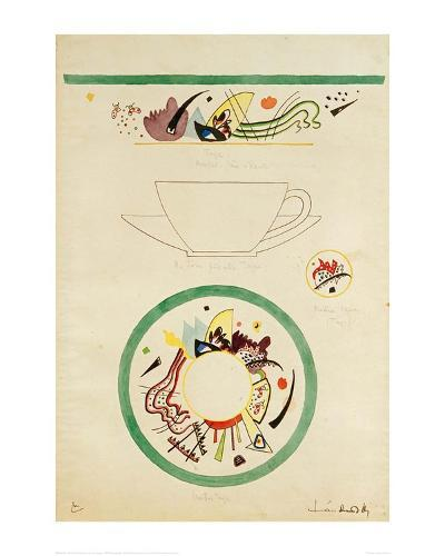 Sketch for a Cup and Saucer, 1920-Wassily Kandinsky-Giclee Print