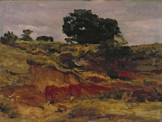 Sketch for a Landscape, 'View in Bedfordshire', C.1890-Frederick Leighton-Giclee Print
