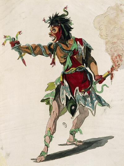 Sketch for Costume of Mars in Opera Castor and Pollux-Jean-Philippe Rameau-Giclee Print