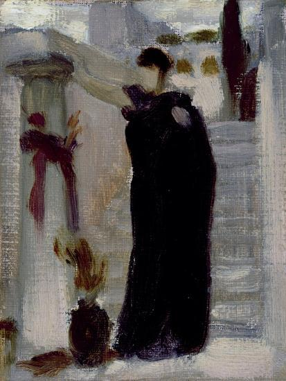 Sketch for 'Electra at the Tomb of Agamemnon', C.1869-Frederic Leighton-Giclee Print
