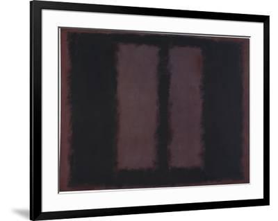 "Sketch for ""Mural No.6"" (Two Openings in Black Over Wine) {Black on Maroon} [Seagram Mural Sketch]-Mark Rothko-Framed Giclee Print"