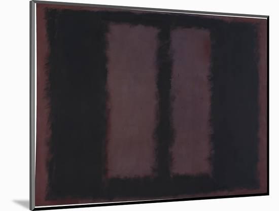 "Sketch for ""Mural No.6"" (Two Openings in Black Over Wine) {Black on Maroon} [Seagram Mural Sketch]-Mark Rothko-Mounted Giclee Print"