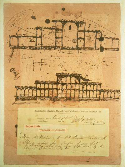Sketch for the Crystal Palace, Built for the Great Exhibition of 1851, 1850-Paxton-Giclee Print