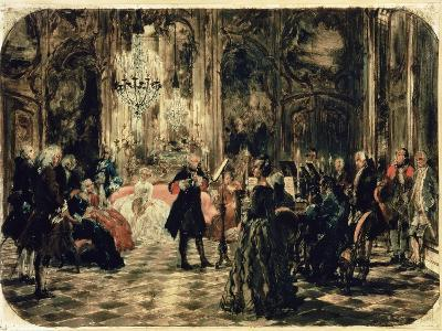 Sketch for the Flute Concert, 1852-Adolph von Menzel-Giclee Print