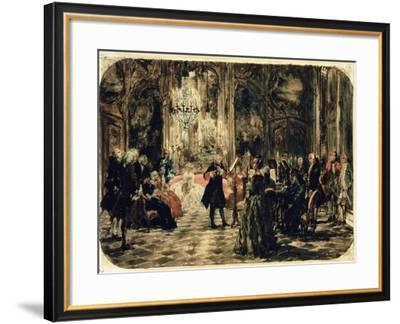 Sketch for the Flute Concert, 1852-Adolph von Menzel-Framed Giclee Print