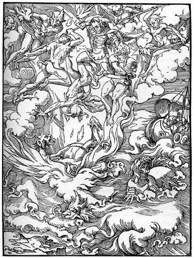Sketch for 'The Last Judgement' in Gerard D'Euphrate, Paris, 1549--Giclee Print