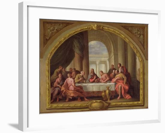 Sketch for 'The Last Supper', St. Mary's, Weymouth, Formerly Attributed to Antonio Verrio…-Sir James Thornhill-Framed Giclee Print