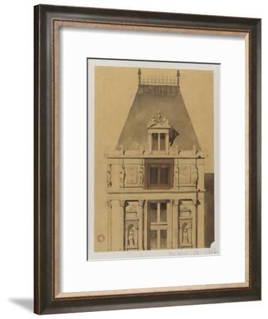 Sketch for the Reconstruction of the Paris City Hall-Gabriel Davioud-Framed Giclee Print