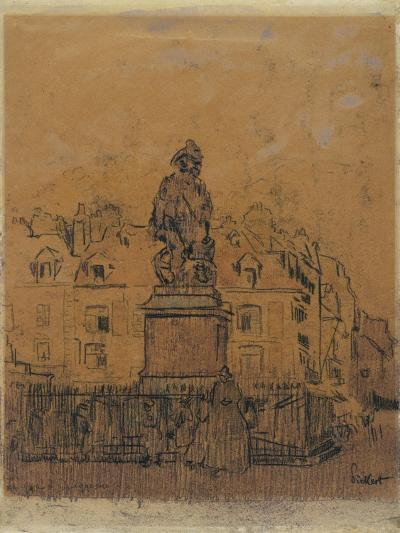 Sketch for 'The Statue of Duquesne, Dieppe'-Walter Richard Sickert-Giclee Print