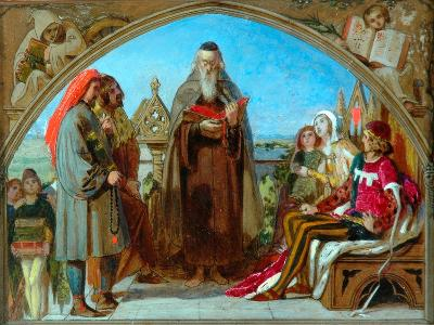 Sketch for 'Wycliffe Reading His Translation', 1847-Ford Madox Brown-Giclee Print