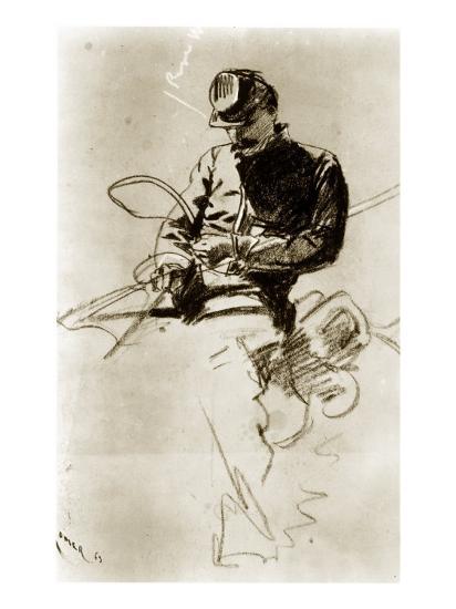 Sketch of a Cavalry Soldier (Civil War)-Winslow Homer-Giclee Print