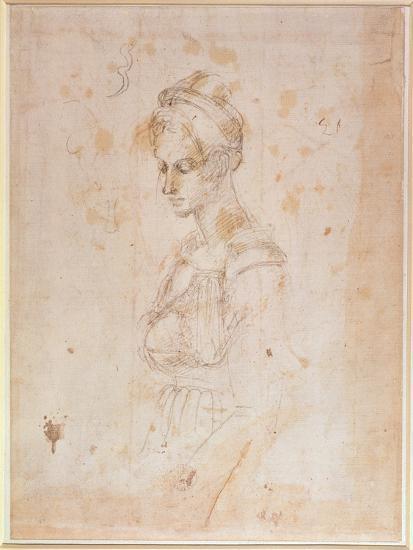 Sketch of a Woman-Michelangelo Buonarroti-Giclee Print
