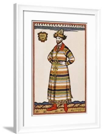 Sketch of Costume for Boris Godunov--Framed Giclee Print