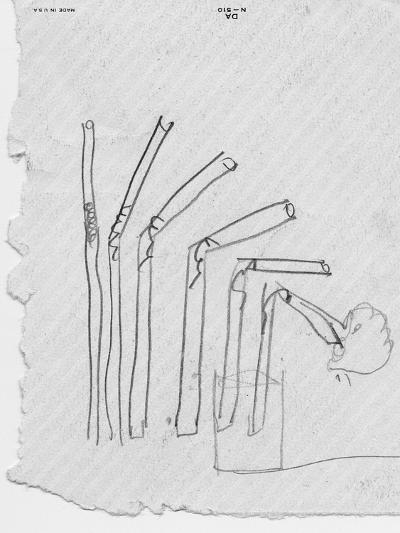 Sketch of Flexible Straw, circa late 1930s; Archives Center, NMAH--Art Print