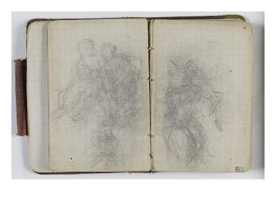 Sketchbook Circa 1865-1870; Studies with Characters-William Adolphe Bouguereau-Giclee Print