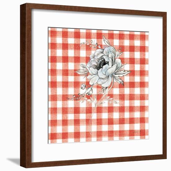 Sketchbook Garden VIII Red Checker-Danhui Nai-Framed Art Print