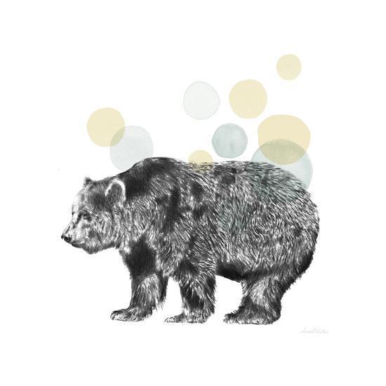 Sketchbook Lodge Bear Neutral-Lamai McCartan-Art Print