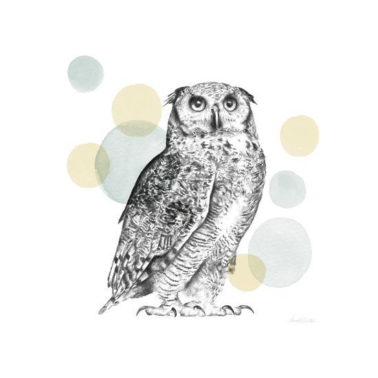 Sketchbook Lodge Owl Neutral-Lamai McCartan-Art Print