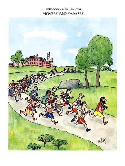 SKETCHBOOK-MOVERS AND SHAKERS - New Yorker Cartoon-William Steig-Premium Giclee Print