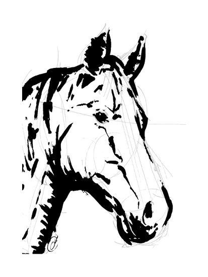 Sketched horse-OnRei-Art Print