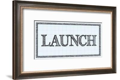 Sketched Words - Launch-BG^Studio-Framed Art Print