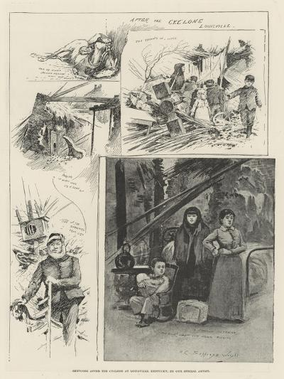 Sketches after the Cyclone at Louisville, Kentucky-Henry Charles Seppings Wright-Giclee Print