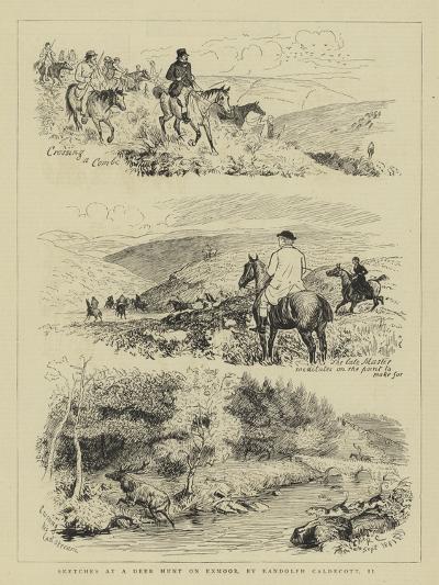 Sketches at a Deer Hunt on Exmoor-Randolph Caldecott-Giclee Print