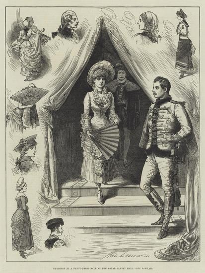 Sketches at a Fancy-Dress Ball at the Royal Albert Hall-Henry Stephen Ludlow-Giclee Print