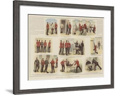 Sketches at a Recruit Depot--Framed Giclee Print