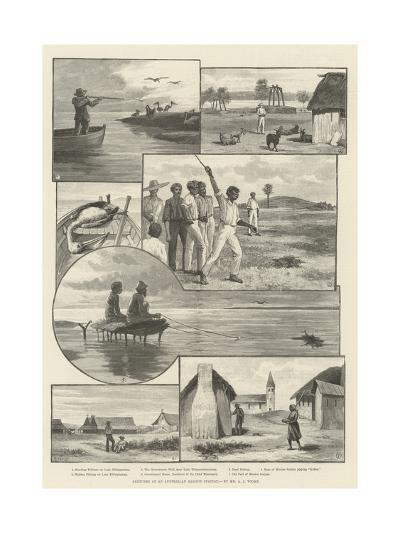 Sketches at an Australian Mission Station--Giclee Print