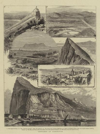 Sketches at Gibraltar-William Henry James Boot-Giclee Print