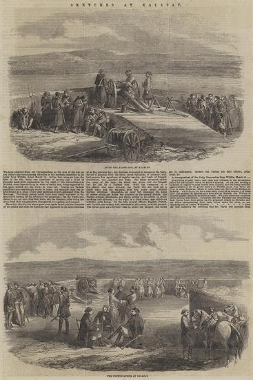 Sketches at Kalafat--Giclee Print