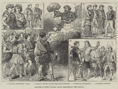 Sketches at King's College School Theatricals--Giclee Print