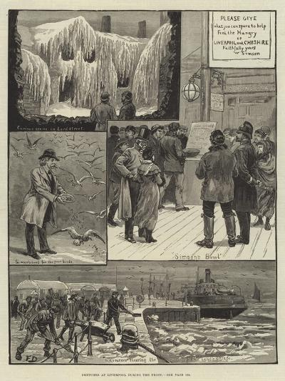 Sketches at Liverpool During the Frost-Frank Dadd-Giclee Print