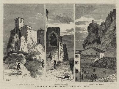 Sketches at San Marino, Central Italy--Giclee Print