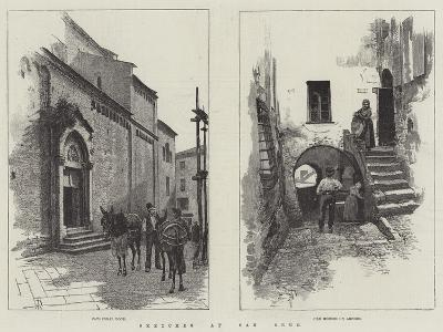Sketches at San Remo-Amedee Forestier-Giclee Print