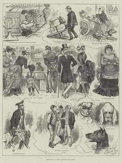 Sketches at the Antwerp Dog Show--Giclee Print