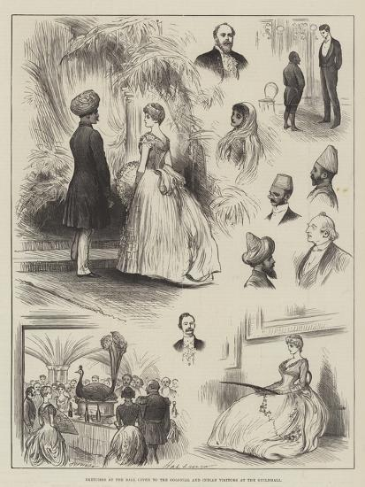 Sketches at the Ball Given to the Colonial and Indian Visitors at the Guildhall-Henry Stephen Ludlow-Giclee Print