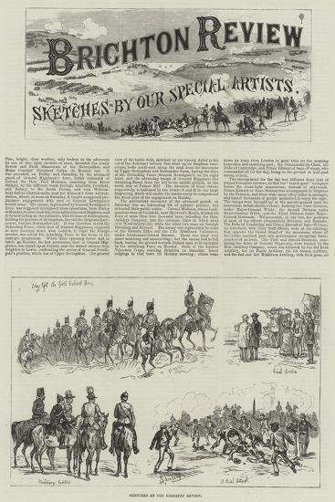 Sketches at the Brighton Review-Johann Nepomuk Schonberg-Giclee Print