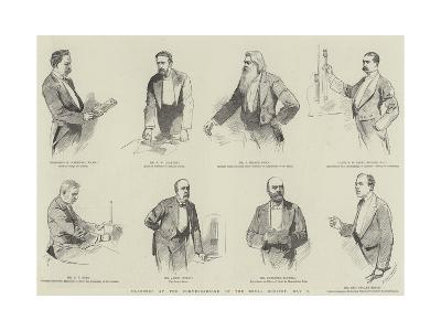 Sketches at the Conversazione of the Royal Society, 8 May--Giclee Print