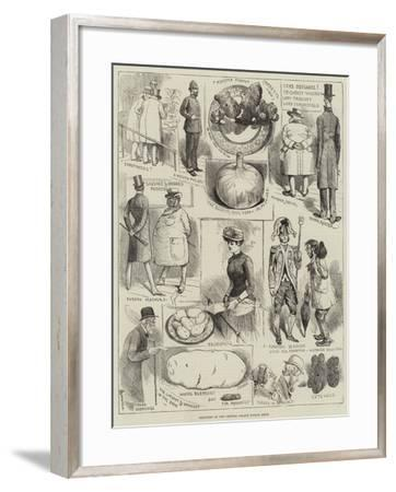 Sketches at the Crystal Palace Potato Show-Alfred Courbould-Framed Giclee Print