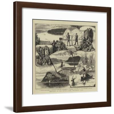 Sketches at the Devil's Lake, Wisconsin, USA-Walter William May-Framed Giclee Print
