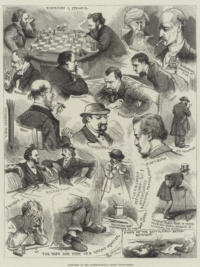 Sketches at the International Chess Tournament-Alfred Courbould-Giclee Print