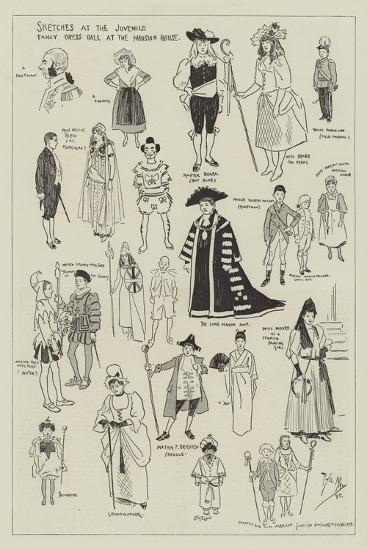 Sketches at the Juvenile Fancy Dress Ball at the Mansion House-Phil May-Giclee Print